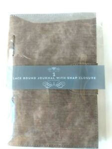 Journal Diary Notebook Snap Closure Distressed Lace Bound 250 Pages Bella Bug
