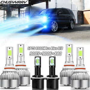 6x Combo 9005 9006 Led Headlight 880 Fog Light Bulbs For Chevy Tahoe 2001 2006
