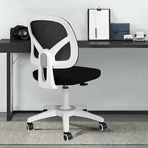 Office Chair Mesh Desk Task Chair Ergonomic Computer Chair With White