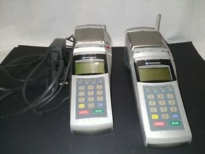 Lot Of 2 Exadigm Credit Card Machines Estate Tested Working 1 Cord Wireless