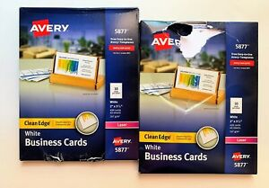 2 Pack Avery Business Cards Laser 400 Cards 2 X 3 5 Clean Edge 5877 Damage