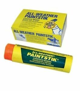 All Weather Orange Paintstiks For Swine cattle livestock 4 Boxes Of 12