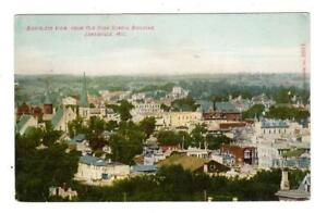 Wi Janesville Wisconsion Postcard Birds Eye View From Old High School