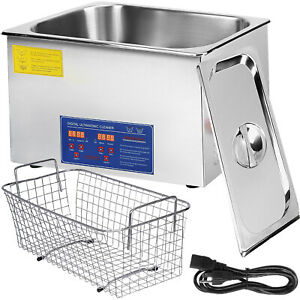 Vevor 22l Ultrasonic Cleaner Stainless Steel Industry Heated With Heater Timer