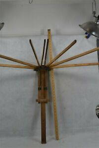 Old Early Drying Rack Towel Bar Wall Mount 8 Arms 24 In Long 1900 Original