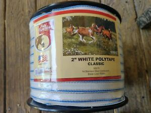 Field 2 White Polytape Classic For Electric Fence New