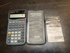 Construction Master Pro Calculator Trig Plus Iii Model 4075 Tested Preowned