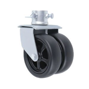 6 2000lbs Dual Trailer Swirl Jack Caster Wheel With Pin Fits Any Jack Better