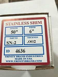 304 Stainless Steel Sheet Shim 002 0005 X 6 0 X 50 6 Certifiably