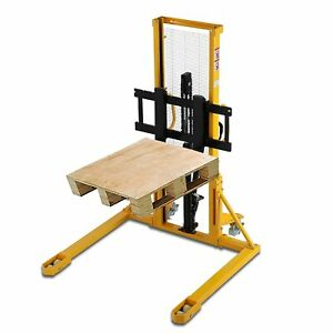 Apollolift Manual Walkie Straddle Stacker Hand Pump Forklift 63 Height 2200lbs