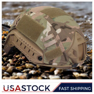 Tactical Helmet Cover For Fast Helmet Army Military Airsoft Headwear Camouflage $10.63