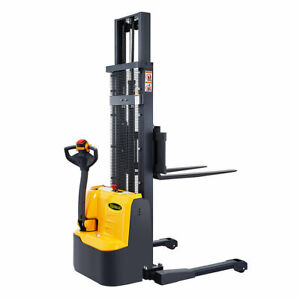 Apollolift Full Electric Drive Straddle Stacker Walkie Truck 118 3300lbs Cap