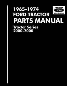 Ford 2000 3000 4000 5000 7000 3400 5550 Tractor Parts Manual 1965 1975