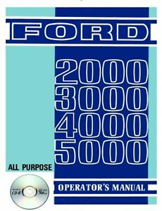 Ford 2000 3000 4000 5000 Tractor Owners Operators Manual