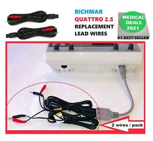 Replacement Electrode Lead Wires For Richmar Quattro 2 5 Muscle Stim 2 pack