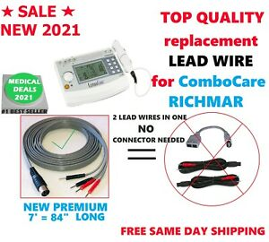 New 2021 Electrode Lead Wire For Richmar Combocare Electrotherapy 7 Feet Long