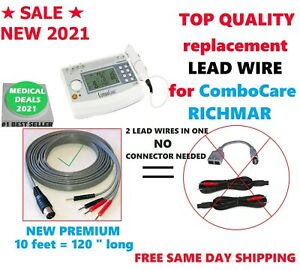 New 2021 Electrode Lead Wire For Richmar Combocare Electrotherapy Combo 120
