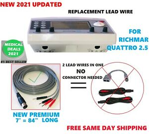 New 2021 Electrode Lead Wire For Richmar Quattro 2 5 Muscle Stimulator 7 Feet