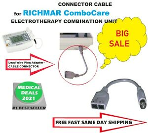 Grey Connector Cable For Richmar Combocare Electrotherapy Combination Unit 1 2