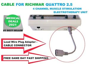 Grey Connector Cable For Richmar Quattro 2 5 Muscle Stimulator 1 2 1ps Pack