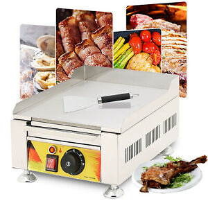 Commercial Electric Griddle Bbq Egg Fryer Countertop Grill Flat Hotplate 2000w