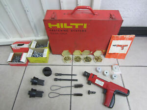 Hilti Dx200 Piston Drive Fastening Tool With Case And Extras