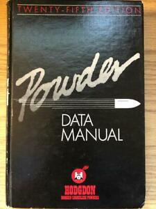 1986 HODGDON POWDER RELOADING MANUAL NUMBER 25 FIRST EDITION $26.50