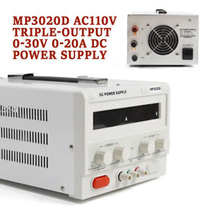 Mp3020d Led Variable Adjustable Lab Linear Dc Bench Power Supply 0 30v 0 20a Usa