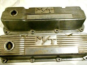 Mickey Thompson Matching Pair Of Ford 351 C Valve Covers 103r 40b Aluminum
