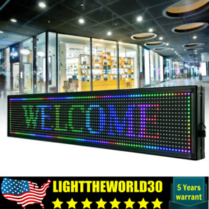 Sale 40x8 Outdoor Scroll Message Board 7 Color Programmable Led Sign