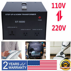 5000 Watt Step Up And Down Voltage Transformer Power Converter 110 To from 220v