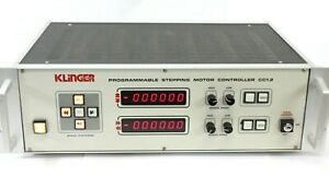 Klinger Cc1 2 Programmable Stepping Motor Controller No Key Power Tested