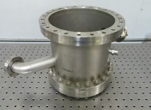 C176080 Varian Stainless Conflat 10 Cf Vacuum Chamber Blank W 2 75 Cf Port