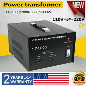 New 5000w Voltage Converter Transformer Heavy Duty Step Up And Down 110 220v Us