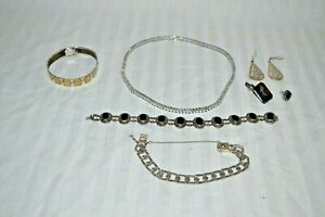 Vintage Estate Sterling 925 Jewelry Lot Not Scrap Tennis Eternity Necklace More