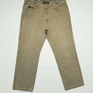 Lee 40x30 Tan Denim Wash Relaxed Fit Straight Leg Mid Rise Men#x27;s Jeans $17.99
