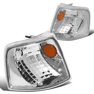 Front Bumper Corner Light Turn Signal Lamp Replaces For 93 97 Ford Ranger Chrome