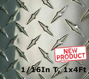 Aluminum Polished Diamond Plate 12 Wide X 48 Long X 1 16 Thick Alloy 3003 New