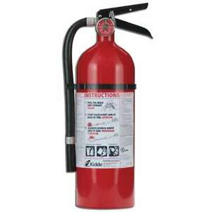 Kidde Fire Extinguisher Pro 210 2 a 10 b c Dry Chemical Rechargeable Wall Hanger