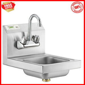 12 x16 Wall Mount Nsf Hand Wash Sink Commercial Restaurant Stainless Steel New