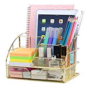 Desk Organizer For Women cute Mesh Office Supplies Accessories For Home