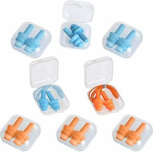 8 Pairs Soft Silicone Ear Plugs Noise Cancelling Ear Plugs Ear Plugs Sleeping