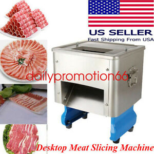 Electric Commercial Cutting Machine Slicers Meat Slicing Shredding 550w 110v Us