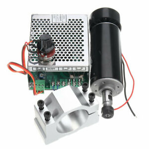 Er11 500w Spindle Motor Cnc Machifit 52mm Chuck And Clamps Power Supply Speed