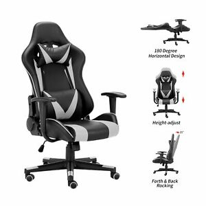 Modern Office Chair Game Racing Chair With Waist Vibration Massage Chair