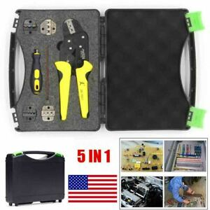 Insulation Cable Connectors Terminal Ratchet Crimping Tool Wire Crimper Pliers