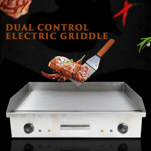 4400w Commercial Electric Countertop Griddle Flat Plate Grill Bbq Cooking Device