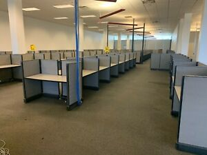 Unbranded Cubicle Set Desk Tops And Dividers Large Office Space Free Shipping