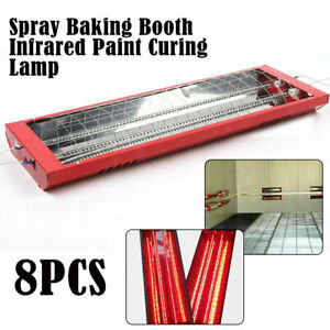 8set 2kw Spray Baking Booth Infrared Red Paint Curing Light Heating Lamp Heater