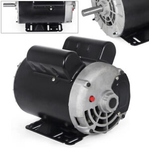 3hp Electric Motor Air Compressor Reversible Single Phase 5 8 Shaft 38 Lbs Usa